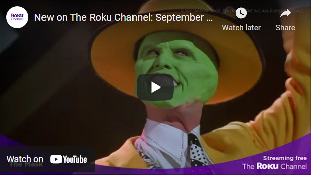 Quality Engaging Free Entertainment on Roku Channel in September 2021